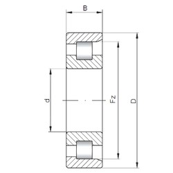 55 mm x 100 mm x 21 mm  Loyal NF211 E cylindrical roller bearings