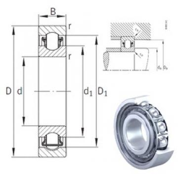 8 mm x 22 mm x 7 mm  INA BXRE08 needle roller bearings