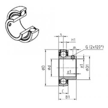 SNR US204 deep groove ball bearings