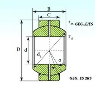30 mm x 55 mm x 32 mm  ISB GEG 30 ES plain bearings