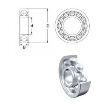 55 mm x 100 mm x 21 mm  ZEN 6211 deep groove ball bearings